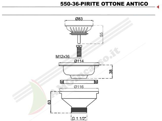 550-36-PIRITE - Piletta Basket 3½ Ø114 L.B.PLAST 550-36-PIRITE ...