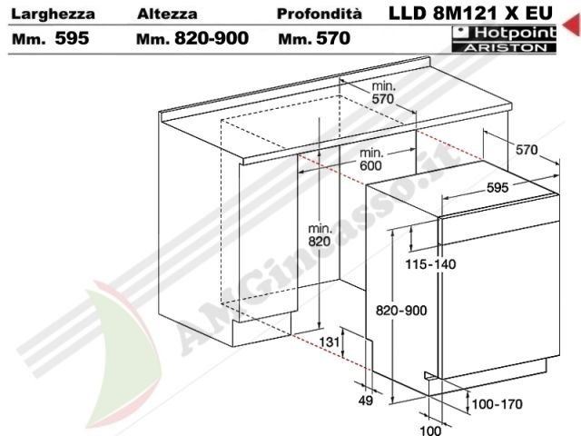 lld8m121xeu lavastoviglie hotpoint ariston lld 8m121 x eu incasso cucina a vista totale. Black Bedroom Furniture Sets. Home Design Ideas