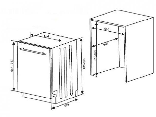 Finr d21 lavastoviglie incasso cucina a scomparsa totale - Mobili per elettrodomestici da incasso ...