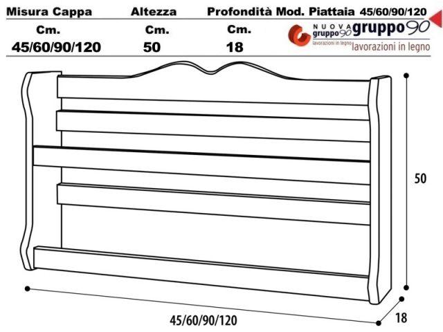PS/G/60 - Piattaia 60 cucina incasso Legno grezzo - Ecommerce Amgincasso