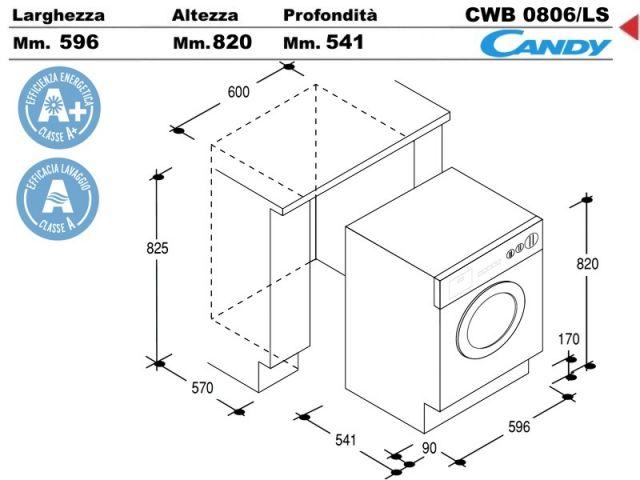 Cwb0806 ls lavabiancheria lavatrice incasso cucina a - Lavatrice in cucina ...