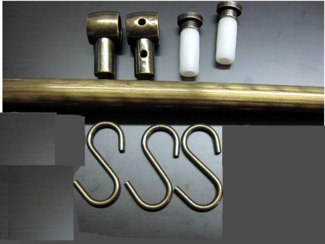 Barra asta sottopensile portamestoli ottone antico per for Quotazione barra ottone