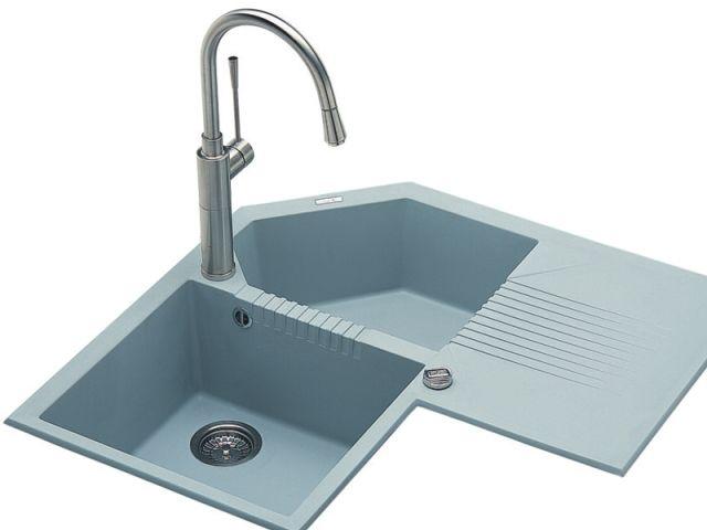 Lgtcor54 lavello elleci tekno angolare lgtcor54 830 x 830 2 vasche con gocciolatoio incasso - Lavello cucina angolare ...