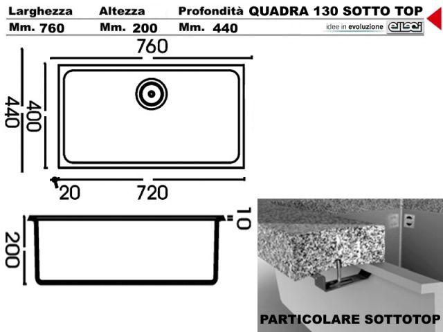 Elleci Quadra 130 Lavello Nero 54