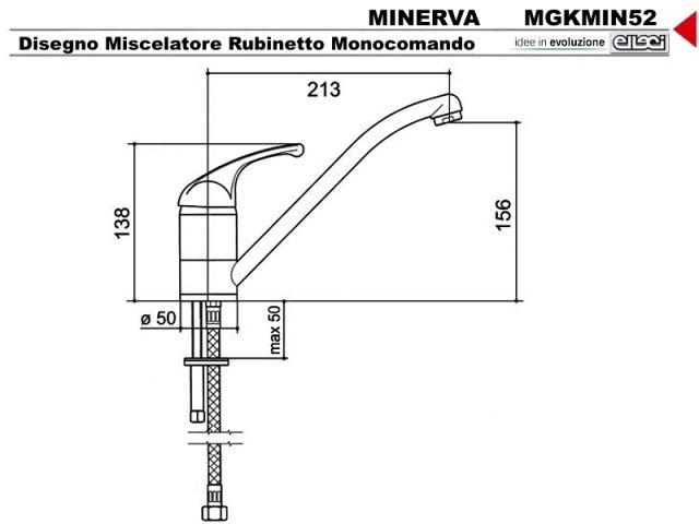 ... Elleci Minerva MGKMIN52 canna incasso cucina bassa Granitek 52 Bianco