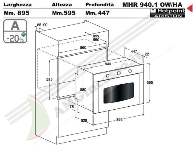Mhr940 1 ow ha s forno incasso cucina hotpoint ariston - Cucina ariston 7 cuochi ...