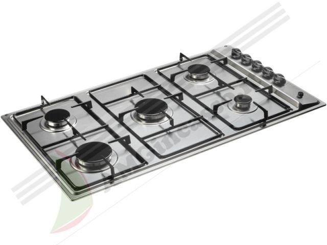 pim950asix - piano cottura 90 incasso cucina indesit pim 950 as ix ... - Cucine 5 Fuochi