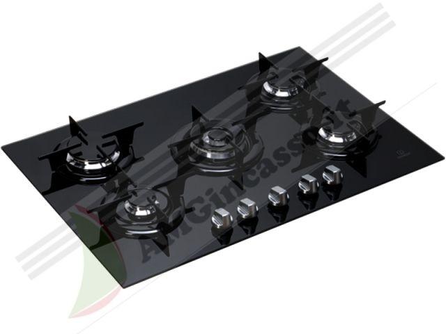 Ipg751sbk piano cottura 75 incasso cucina indesit ipg for Piano cottura 5 fuochi vetro