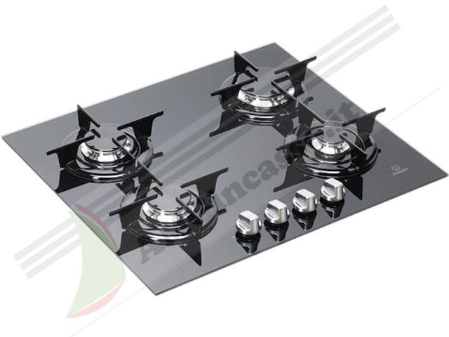 Ipg640sgr piano cottura 60 incasso cucina indesit ipg for Piano cottura 5 fuochi vetro