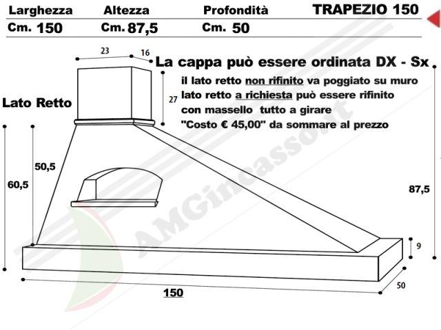 TRAPEZIO/G/150 - Cappa Trapezio Cm.150 cucina rustica country ...