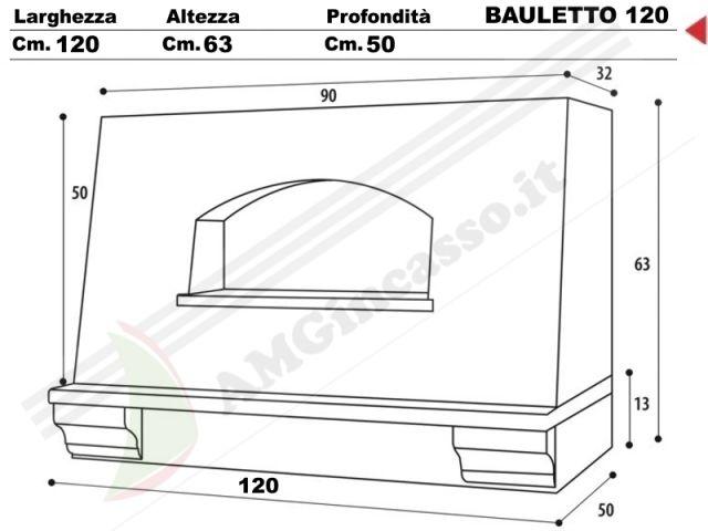 BAULETTO/G/120 - Cappa Bauletto Cm.120 cucina rustica country ...