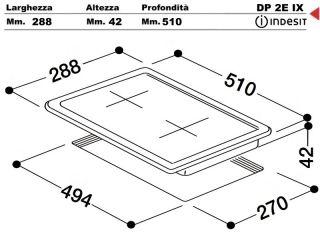 Dp2eix piano cottura 30 incasso cucina indesit dp 2e ix - Piastre elettriche da incasso ...